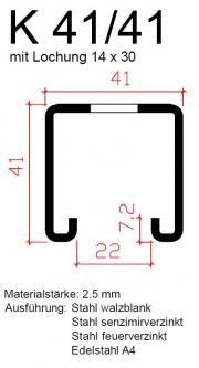 montageschiene gelocht. Black Bedroom Furniture Sets. Home Design Ideas